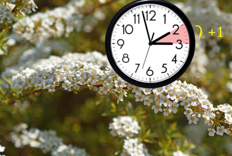 Canva daylight saving time. dst. wall clock going to winter time. 1 1 760x510